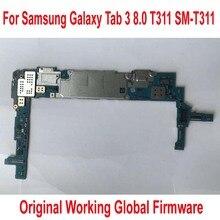 Global Firmware Originele Werk Moederbord voor Samsung Galaxy Tab 3 8.0 T311 SM T311 Mainboard Logic Circuits Kaart Vergoeding Flex Kabel