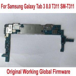 Image 1 - הגלובלי הקושחה מקורי האם עבודה עבור Samsung Galaxy Tab 3 8.0 T311 SM T311 Mainboard מעגלים לוגיים כרטיס דמי להגמיש כבל
