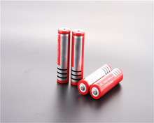 2pcs/lot 18650 Battery Newest Li-ion Rechargeable battery 3.7V  for Flashlight  Red Free shippng 2pcs the newest white