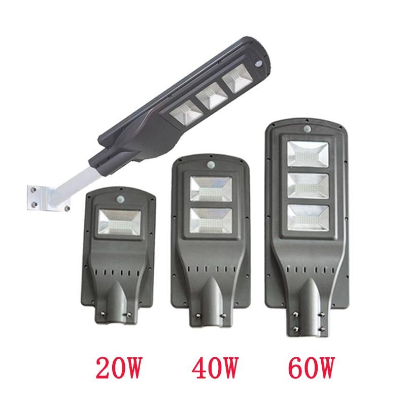 20W/40W/60W LED Solar Lamp Wall Street Light Dusk To Dawn Motion Sensor Waterproof Security Lamp Solar Lamp For Garden Yard