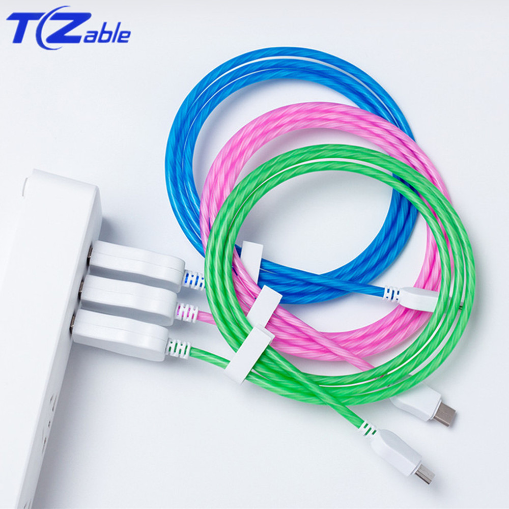 C Fire Wolf Streamer Led Tricolor 9v3a Data Cable For Huawei For Mille For Samsung Tlien Activating Blood Circulation And Strengthening Sinews And Bones Accessories & Parts Just Usb Type-c Cable Data Cable Usb Type