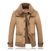 XMY3DWX 2017 Fashion Men Are Upscale In Winter Deer Velvet Casual Jacket Men S Increases The