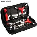 Набор инструментов для ремонта велосипедов WEST BIKING 8 в 1 Набор сумок профессиональные инструменты для ремонта велосипедов спицевые комплект...
