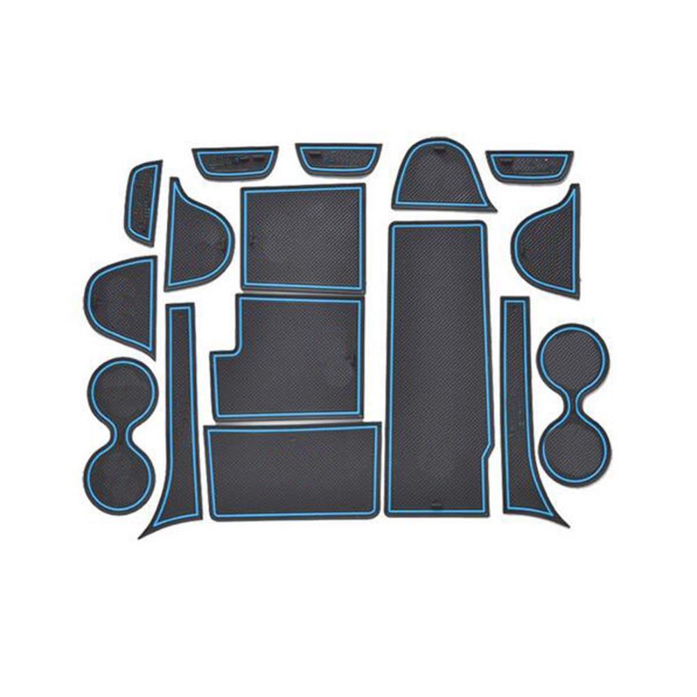 Prix pour Dongzhen voiture Non-Slip Intérieur tasse coussin Porte Tapis couvre Tasse Tapis autocollants Fit Pour Mazda CX-7 16 pcs par ensemble Porte Groove Mat