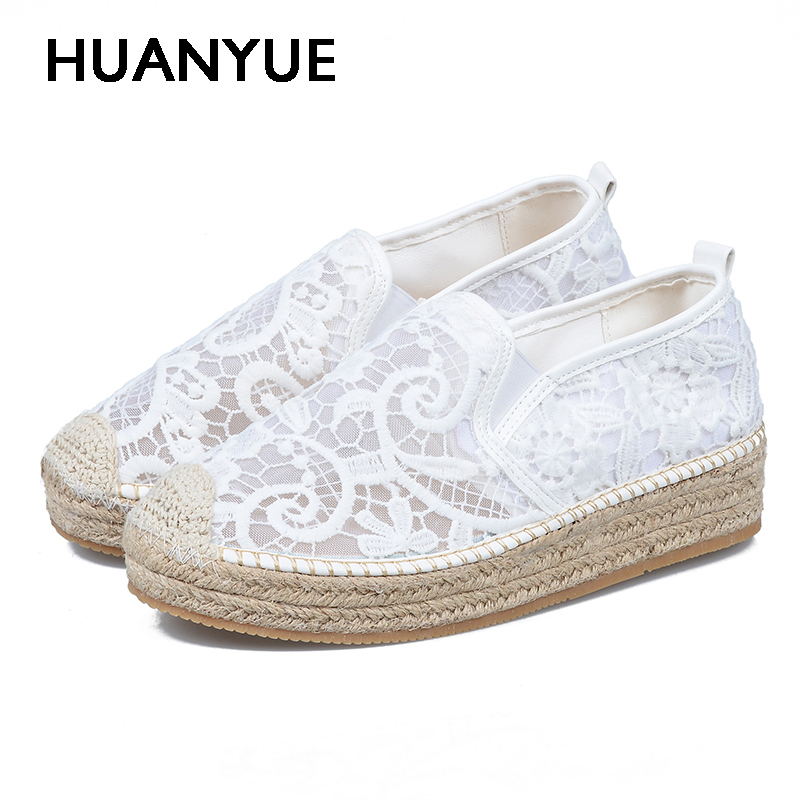 Hot Women Shoes Breathable Casual Shoes Woman Thick Soles Summer Woman Sandals White Loafers Flat Ladies Shoes Zapatos Mujer 2017 hot fashion loafers women casual shoes new breathable mesh flat platform women comfortable wedges heels shoes zapatos mujer
