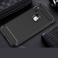 Rugged Carbon Case For IPhone X 8 7 6 6S Plus 5 5se Se Thin Soft