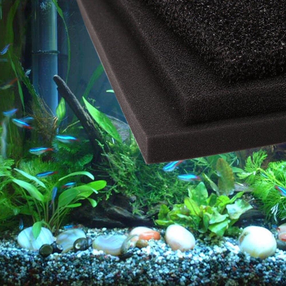 100 x 100 x 2cm Large Block Aquarium Fish Tank Filter Sponge Pad Water Purification Filtration Foam S/M/L hole C42