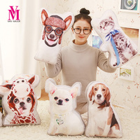 40CM One Piece Creative Sided Printing Dog Deer Cat Pillows Soft PP Cotton Stuffed Plush Toys Cartoon Birthday Gift 7 Style