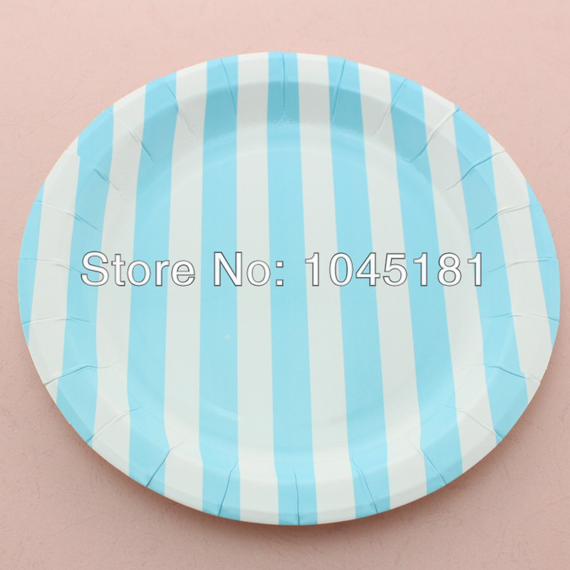 ipalmay Free Shipping Popular Yellow//white 9 striped paper plates Party favors supplies round paper plates-in Disposable Party Tableware from Home u0026 Garden ... & ipalmay Free Shipping Popular Yellow//white 9