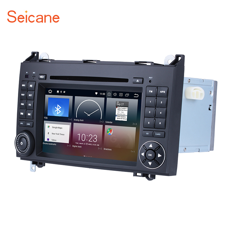 Seicane 2Din Android 8.0 7 Car Radio Stereo GPS Navigation Multimedia Player Head Unit For Mercedes Benz B Class W245 B160 B180 seicane 2din android 8 0 7inch car radio stereo gps multimedia player for mercedes benz slk class slk200 slk280 slk350 slk55
