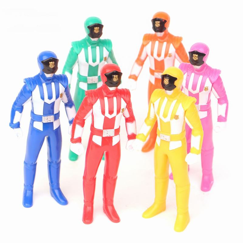 Tatalia 6PCS/Lot Model Action Figure Boy Toys Power Ranger Christmas Gifts Doll Toys ss soldierstory1 6 us forces in afghanistan 75th ranger model12inch action figure doll the finished product