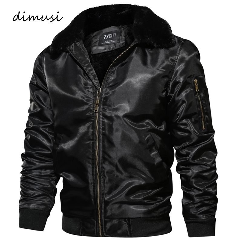 DIMUSI Mens Winter Bomber Jacket Thick Thermal Down Cotton Parkas Male Casual Hoodies Faux Fur Collar Windbreak Warm Coats,TA150