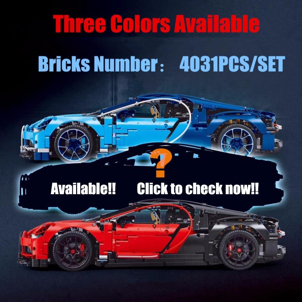 Technic series Model car fit legoings technic Bugatti Chiron Racing Car 42083 Building Block Brick kid diy educational Toys gift loz smartable technic series red excavator diy building brick blocks toys compatible with legoingly technic car gift toy to kid