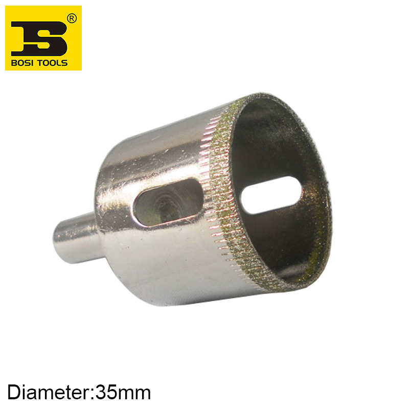 Free Shipping BOSI 35mm Diamond Coated Core Hole Saw Drill Bit For Tiles Marble Glass Ceramic free shipping bosi upgrade high quality diamond glass cutter china top ten brand
