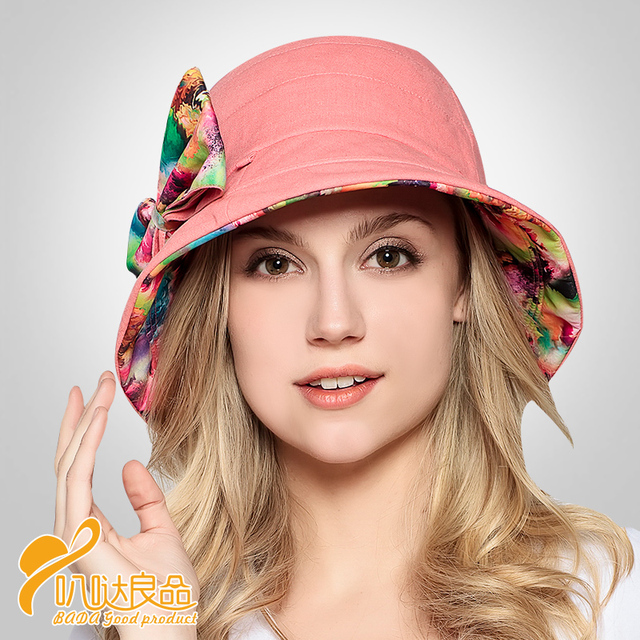 2016 New Sun Hat Fashion Lovely Millinery Summer Sun Adjustable Folding Windproof Anti-uv Sun-shading Cap Two Face Hat B-2298