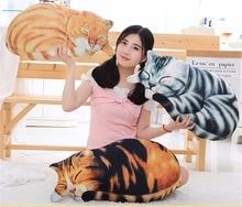 купить Cute cat plush toy sofa pillow cushion stuffed animal doll sleeping pillow birthday gift дешево