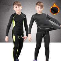Hiver sous-vêtement thermique ensemble enfants chaud Thermo sous-vêtements Homme Masculino Long Johns garçons filles chanceux Johns Fitness séchage rapide