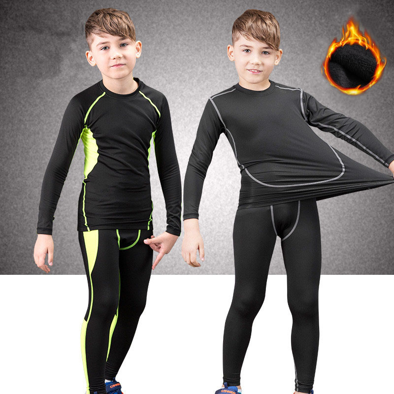 Winter Thermal Underwear Set Children Warm Thermo Underwear Homme Masculino Long Johns Boys Girls Lucky Johns Fitness Quick Dry