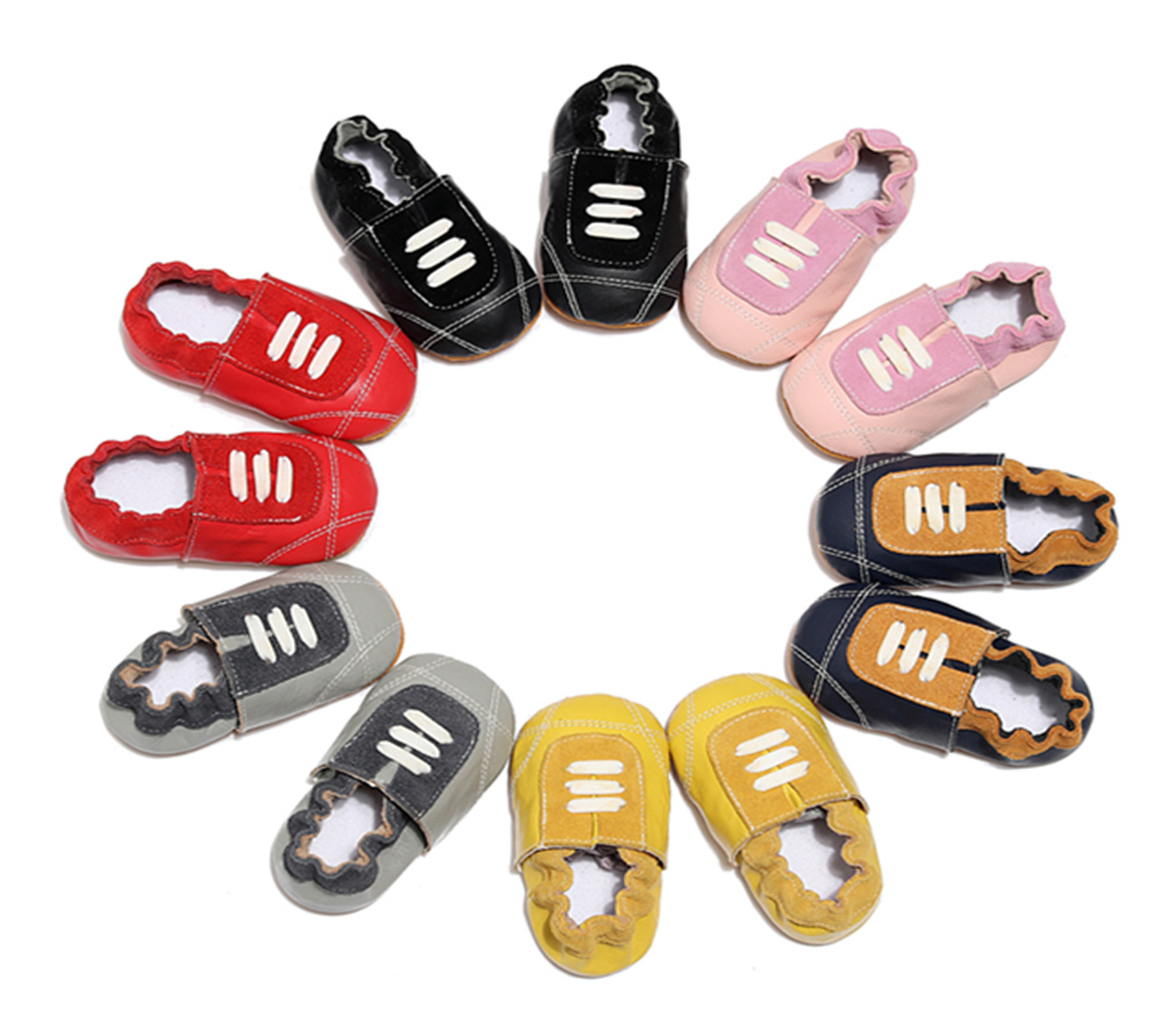 2019 Genuine Leather Handmade Baby Moccasins Casual Baby Shoes Infant Boy Slippers Newborn Baby Girl Indoor Booties