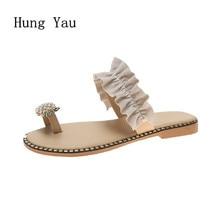Женские босоножки; Вьетнамки; шлепанцы на плоской подошве; шнурок для обуви; модная летняя обувь на танкетке; женские шлепанцы; женская повседневная обувь с ананасом