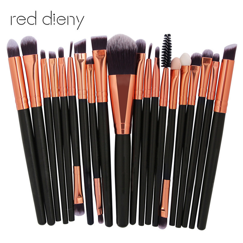 Pro 20Pcs/Set Makeup Brushes Set Powder Foundation Blush Eyeshadow Eyeliner Lip Beauty Make up Brush Tools new 32 pcs makeup brush set powder foundation eyeshadow eyeliner lip cosmetic brushes kit beauty tools fm88