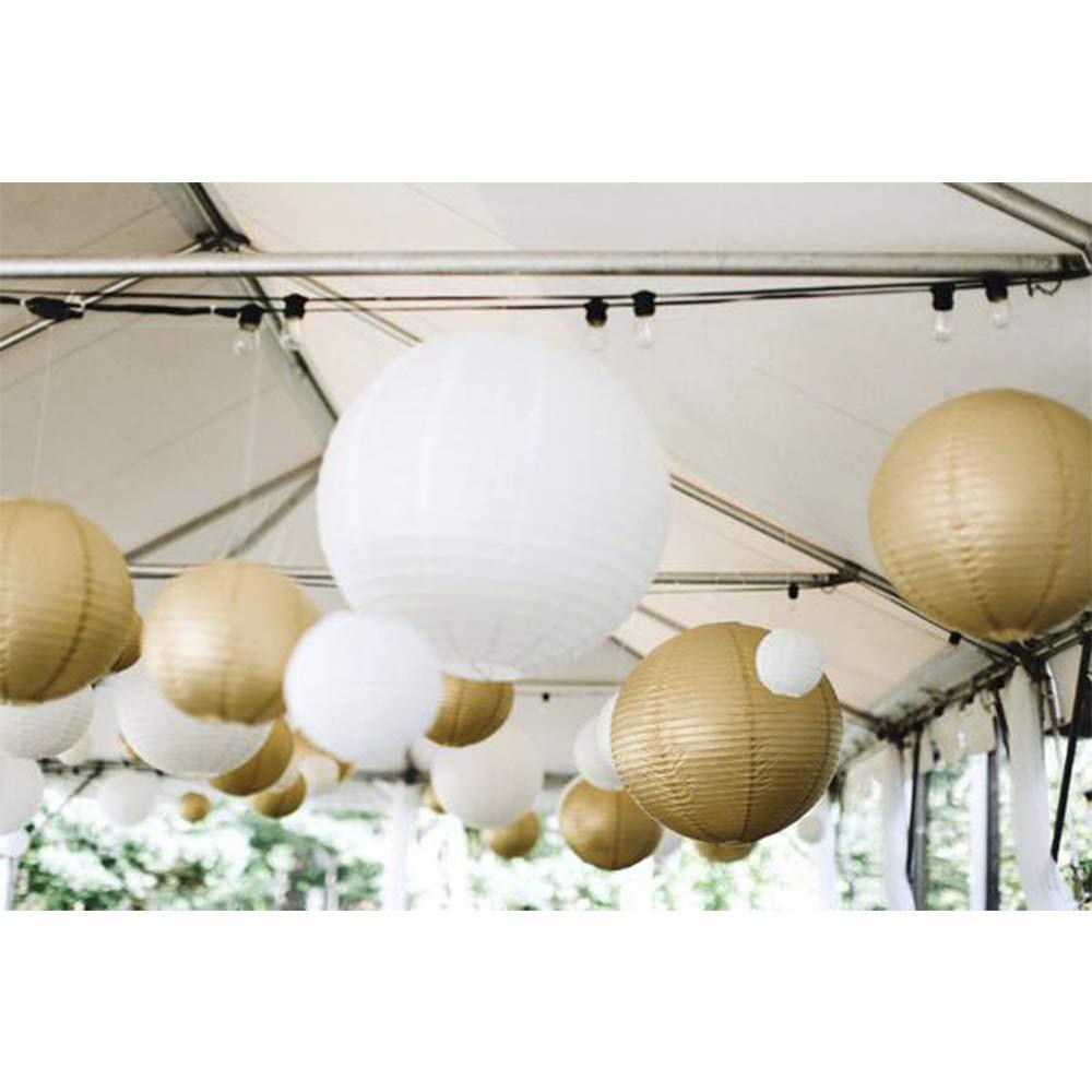 White Beige Gold Chinese Paper Lantern