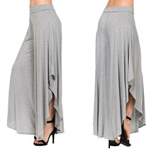 Irregular Wide Leg High Waist Pants Multi Colors