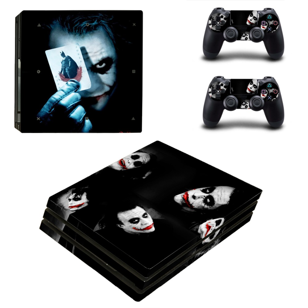 OSTSTICKER Bat man Vinyl Skin Sticker for Sony PS4 Pro For Sony Play Station 4 Pro Console and Controllers Skins Decal
