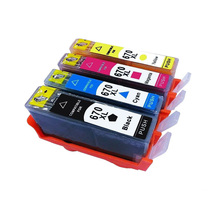 Vilaxh for hp 670 670xl Compatible  Ink Cartridges Replacement For HP Deskjet 3525 5525 4615 4620 4625 6525 printer