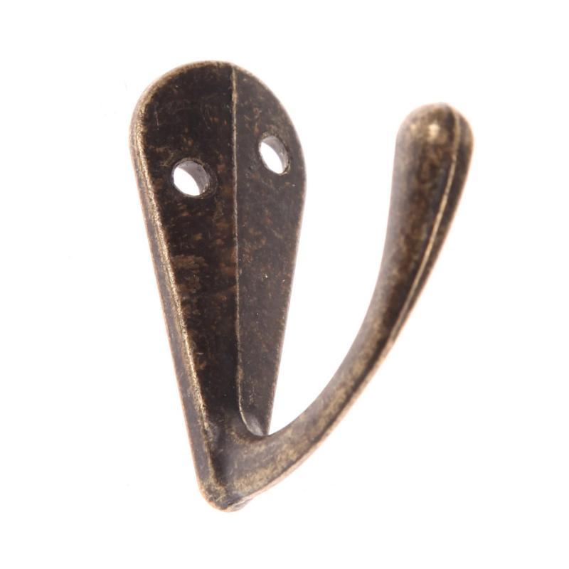 Винтажные античные крючки для спальни из цинкового сплава, вешалка для одежды, пальто, шляп, сумок, полотенец, вешалка для ванной комнаты, настенный крючок - Цвет: 04