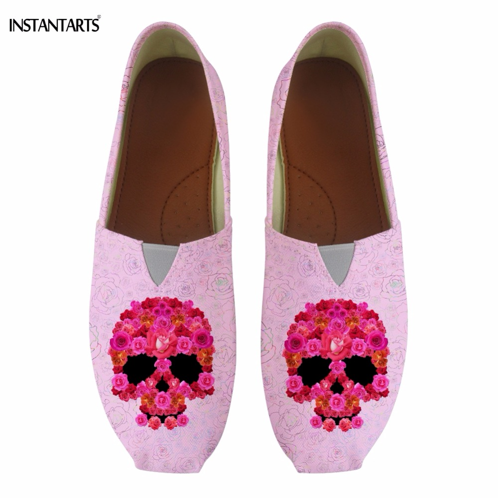 0cbd46a58f84 Buy skulls and roses shoes and get free shipping on AliExpress.com