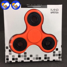 A Toy A Dream 7 Colors Beads Tri-Spinner Plastic EDC Hand Spinner For Autism and ADHD Fidget Spinner Long Time Anti Stress Toys