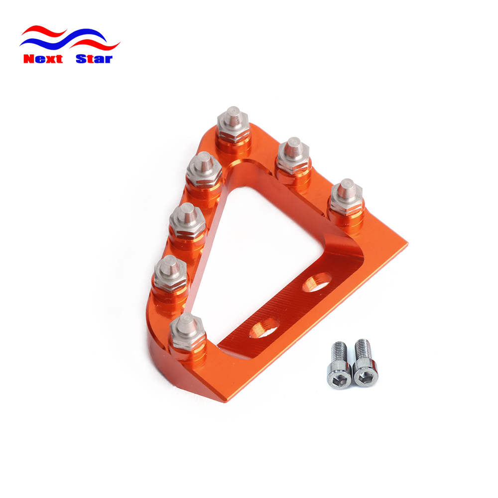 CNC Rear Brake Pedal Step Plate Tip For KTM SX SXF EXCF XCF EXC XCW EXCF 125 150 250 350 450 500 2017 2018 Motocross Enduro Bike