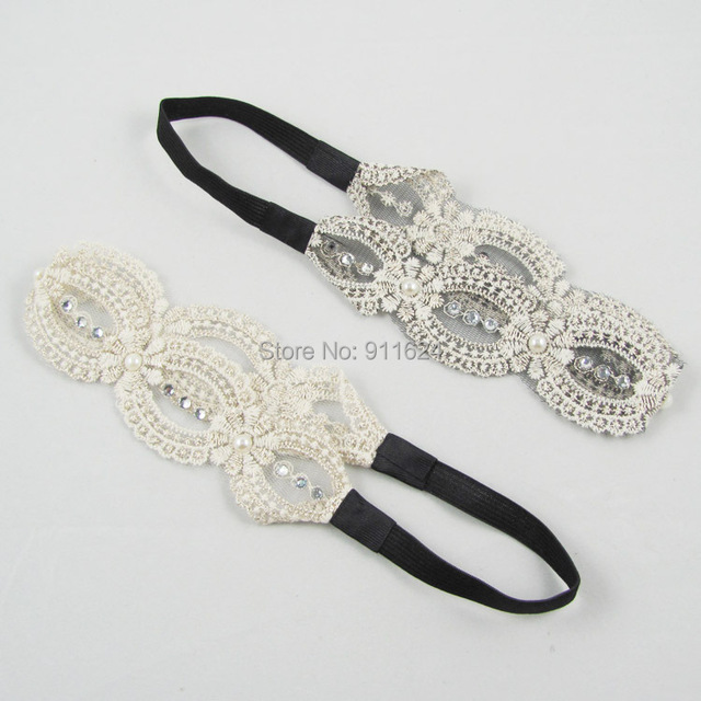 Free Shipping Fashion silk hair band set augerpearl tenia hair hoop head band width of hair ornament