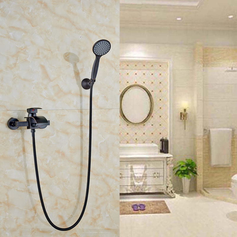 Wall Mount Oil Rubbed Bronze Shower Set Btahtub Shower Faucet W/Hand Sprayer Mixer Tap стоимость