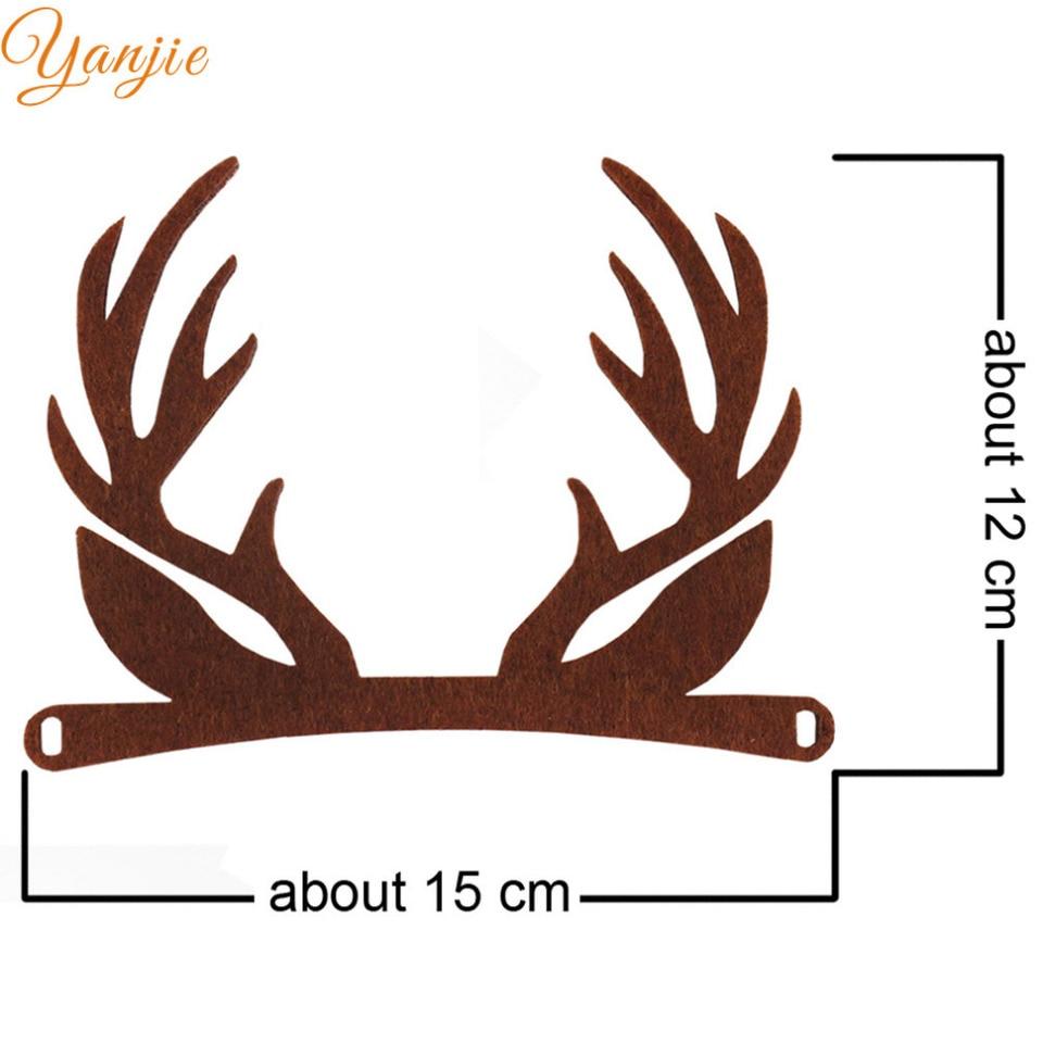 20pcs Lot Felt Deer Antlers For Girls And Kid Diy Christmas Hair Bow Headband Felt Uincorn Horn Party Hair Accessories Hair Bows Bow Headbandhair Bows Headbands Aliexpress