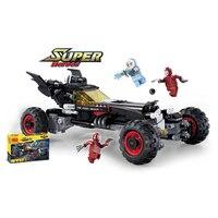 587pcs New Super Heroes Batman Movie Ultimate Batmobile Fit Legoingly Batman Figures Model Building Block Bricks 7125 Gifts Kid