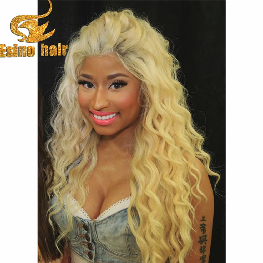 Virgin Chinese Hair Blonde Human Hair Wigs 613 Full Lace