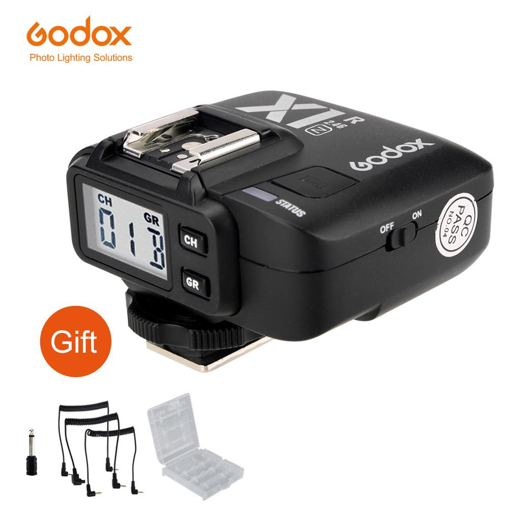 Prix pour Godox x1r-n 2.4g sans fil récepteur pour x1n trigger émetteur nikon dslr D800 D3X D3 D2X D2H D1H D1X D700 D300 D200 D100