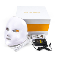 Deciniee Beauty Photon LED Facial Mask Therapy 7 colors Light Skin Care Rejuvenation Wrinkle Acne Removal Face Beauty Spa цена