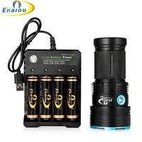 Neue Wasserdichte 3 Modus LED Taschenlampe 12x T6 Taktische Taschenlampen Jagd Taschenlampe & 18650 Batterie und ladegerät