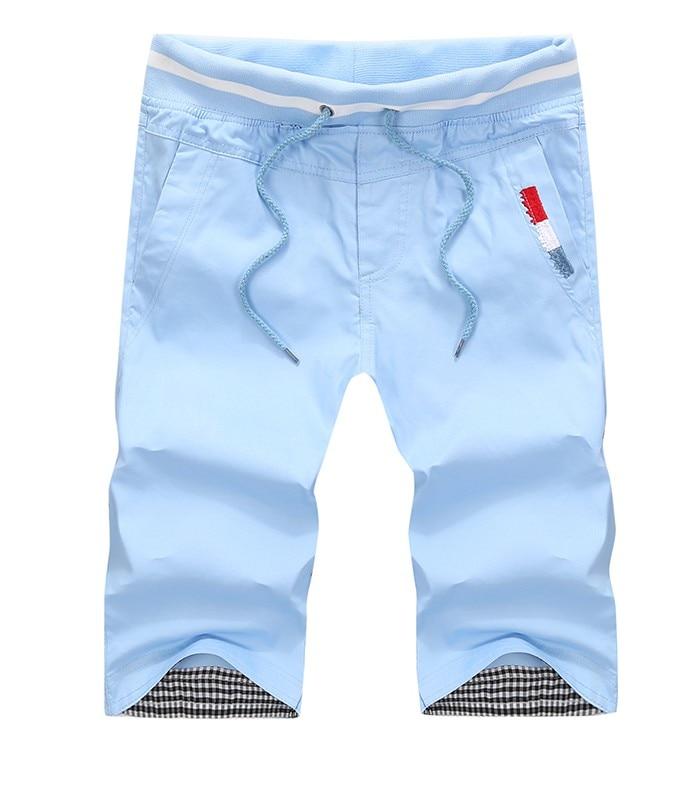 Plus Size 4XL Summer Men Shorts Cotton Beach Shorts Solid Color Casual Shorts Bermuda Masculina 9 Colors