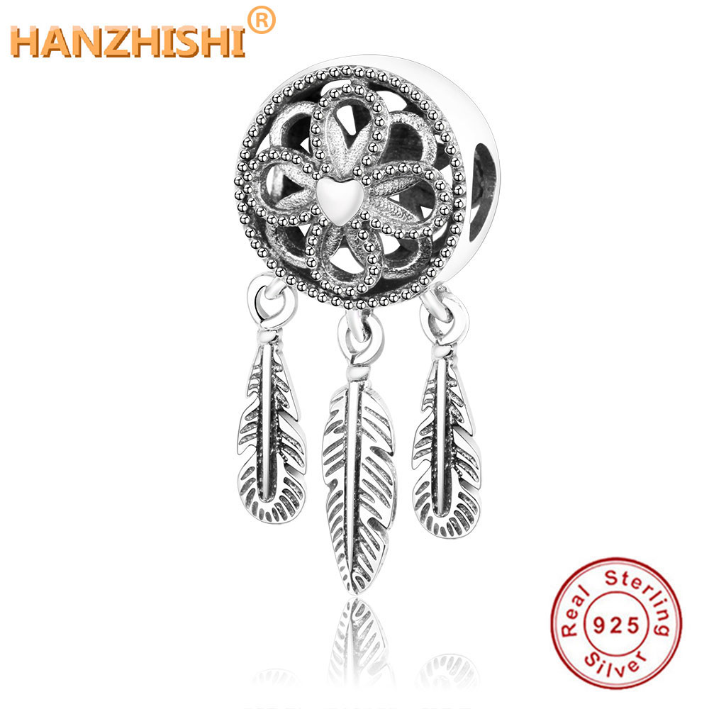 1696b6711 Fit Original Pandora Charm Bracelet 100% 925 Sterling Silver Spiritual  Dream Catcher Dangle Charm Bead DIY Jewelry Berloque 2018
