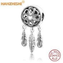 Fit Original Pandora Charm Bracelet 100% 925 Sterling Silver Spiritual Dream Catcher Dangle Charm Bead DIY Jewelry Berloque 2018 цена