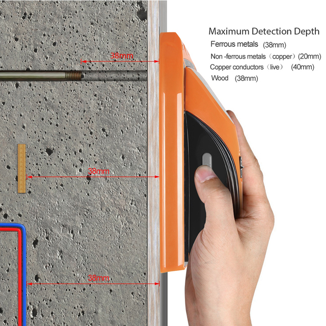 PROSTORMER Metal Detector Find Metal Wood Studs 3 In 1 Multi-functional Live Wire Detect Wall Scanner 2