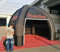 4mW small air structure inflatable dome shaped tent inflatable spider tent with good price for promotion