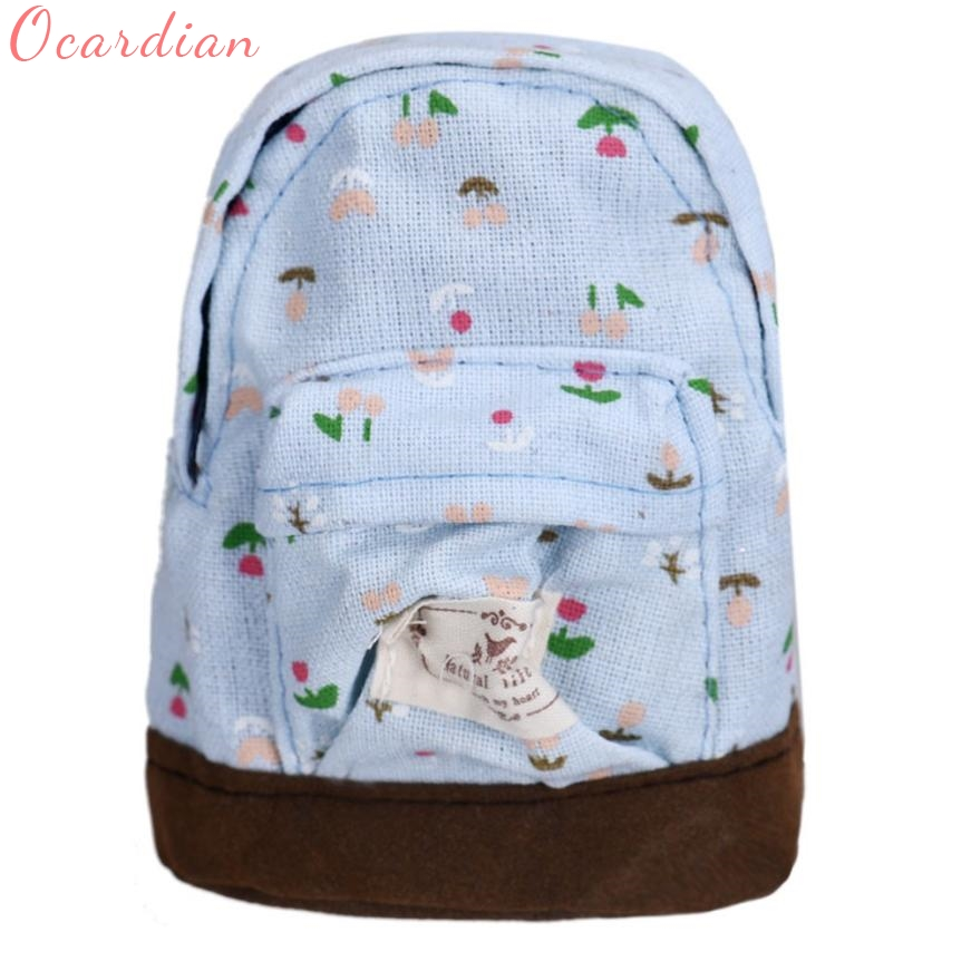 Backpack Top Quality  Hot Sales Canvas Mini Floral  Women Girls Kids Cheap Coin Pouch  Compact Elegant Mochila 17Apr25 long term sales top quality 100