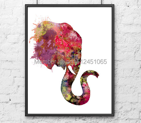 Us 8 2 50 Off Aliexpress Com Buy New Kids Children Colorful Wall Art Decor Living Room Bedroom Abstract Elephant Wall Art Decor Picture Print