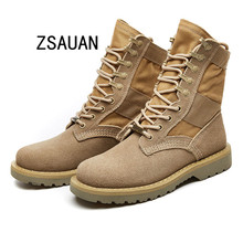 ZSAUAN Women Platform Military Boots British Lovers Couple Male Desert Combat Womens Ankle Winter Warm Work Shoes 2019