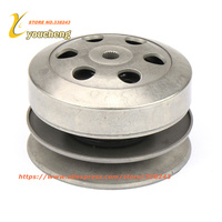 GY6 50 80cc 100 Clutch Pulley Assy Driven Wheel Assembly Belt Pulley Scooter Engine parts Bike Repair Mope CDL GY650